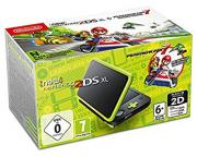 Nintendo NEW 2DS XL Black & Lime Green + Mario Kart 7